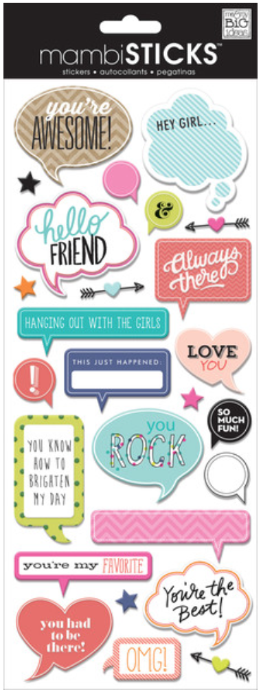 'You're Awesome' mambiSTICKS chipboard stickers | me & my BIG ideas