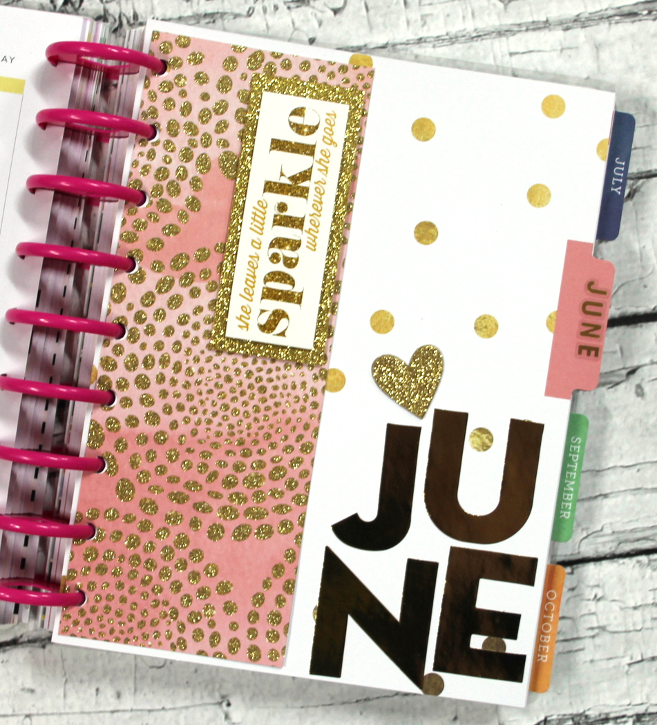 a black & gold weekly June spread in The Hsppy Planner™ of mambi Design Team member Candi Billman | me & my BIG ideas
