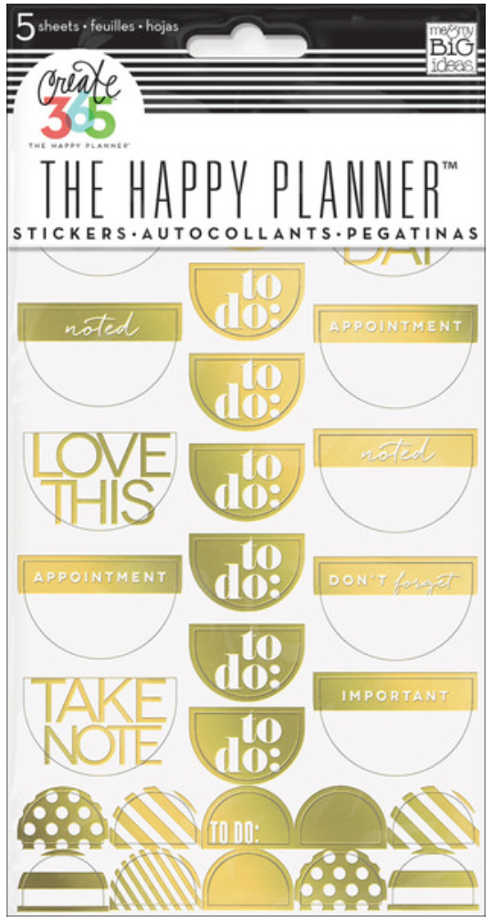 Golf Foil 'To Do' stickers for Create 365™ The Happy Planner™ | me & my BIG ideas