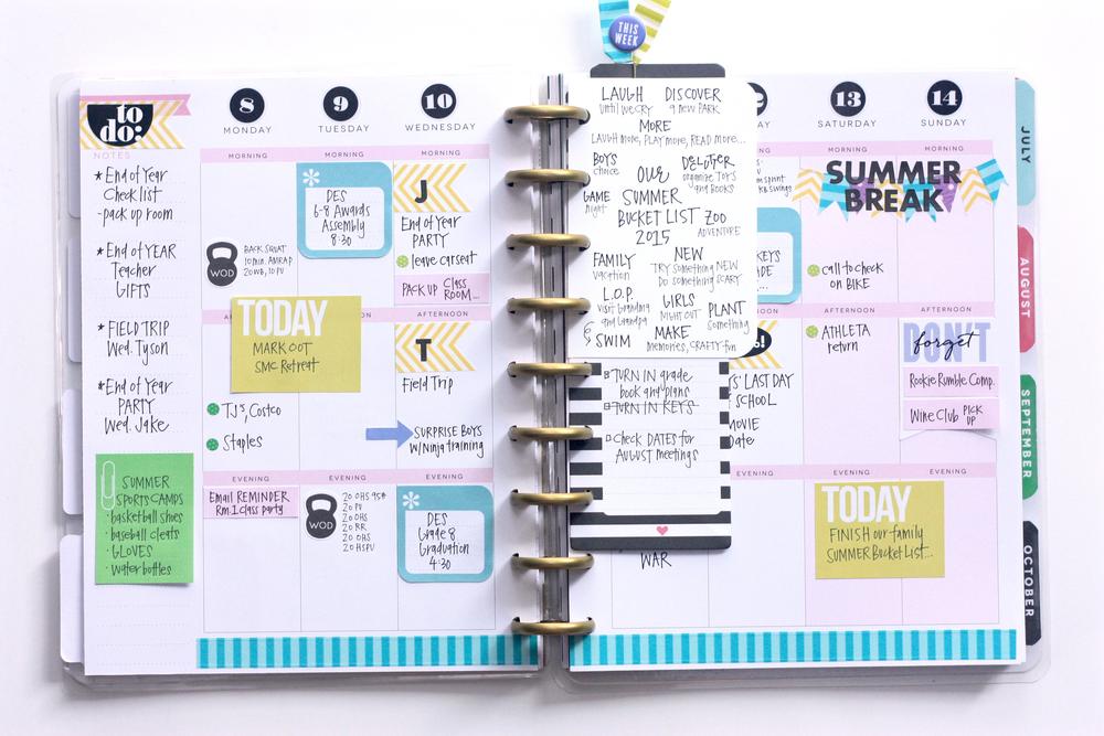 The Happy Planner A June Spread Summer Bucket List Me My Big Ideas