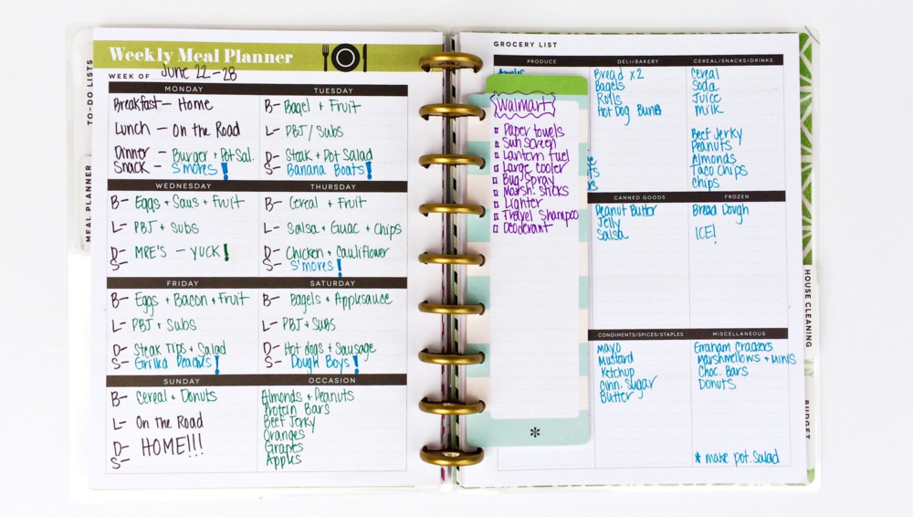 Camping Planner out of her Happy Planner™ by mambi Design Team member Mary-Ann Maldonado | me & my BIG ideas