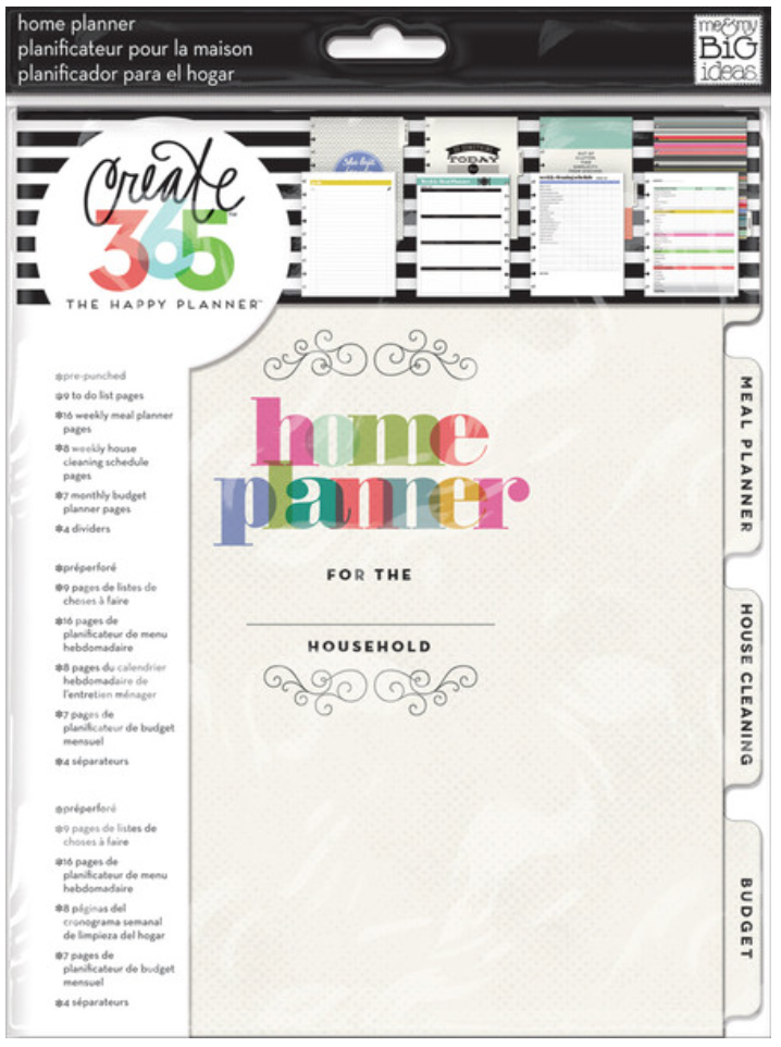 Home Planner for Create 365™ The Happy Planner™ | me & my BIG ideas