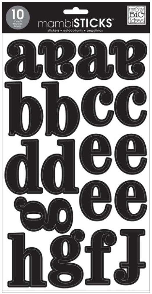 Lowercase Medium Black mambiSTICKS jumbo stickers | me & my BIG ideas