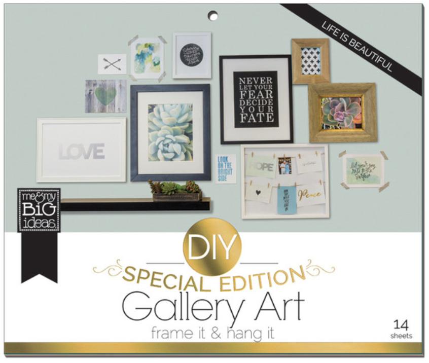 'Life is Beautiful' DIY Gallery Art Pad | me & my BIG ideas
