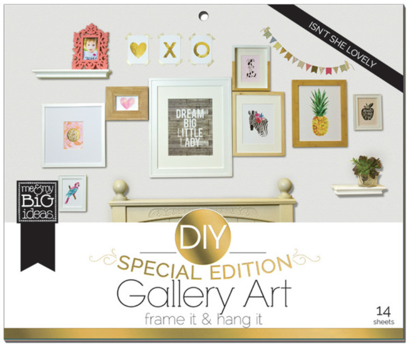 'Isn't She Lovely' DIY Gallery Art Pad | me & my BIG ideas