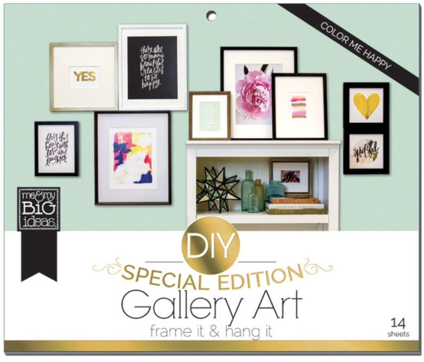 'Color Me Happy' DIY Gallery Art Pad | me & my BIG ideas