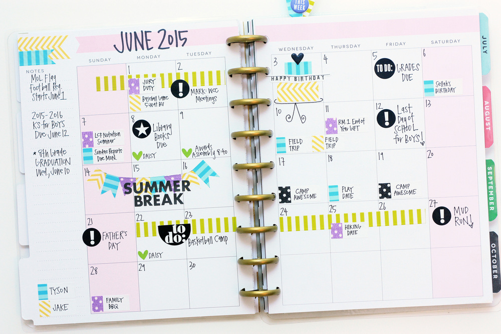 an almost complete June in The Happy Planner™ of mambi Design Team member April Orr | me & my BIG ideas