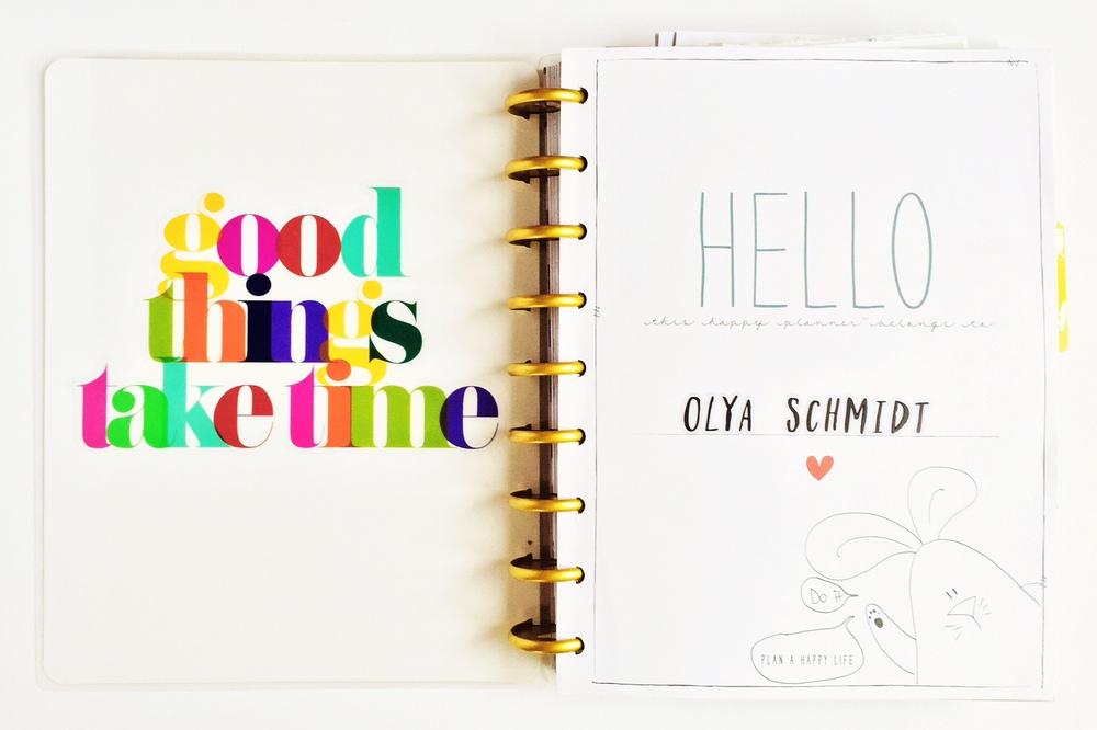 a flip-through of mambi Design Team member Olya Schmidt's Happy Planner™ | me & my BIG ideas
