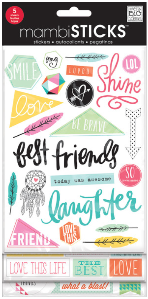 'Best Friends' mambiSTICKS clear stickers | me & my BIG ideas