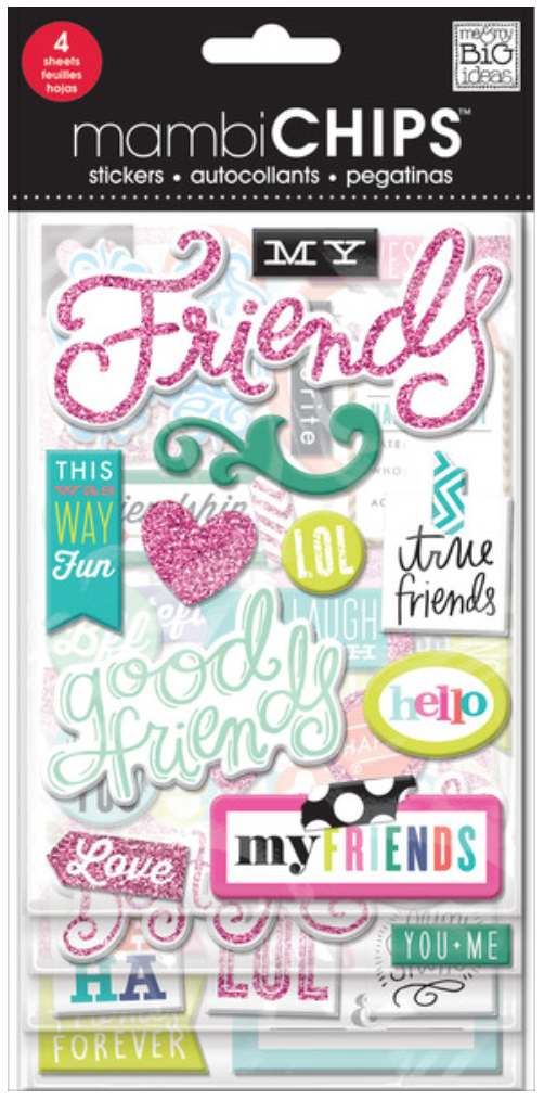 'Good Friends' mambiCHIPS chipboard sticker pack | me & my BIG ideas