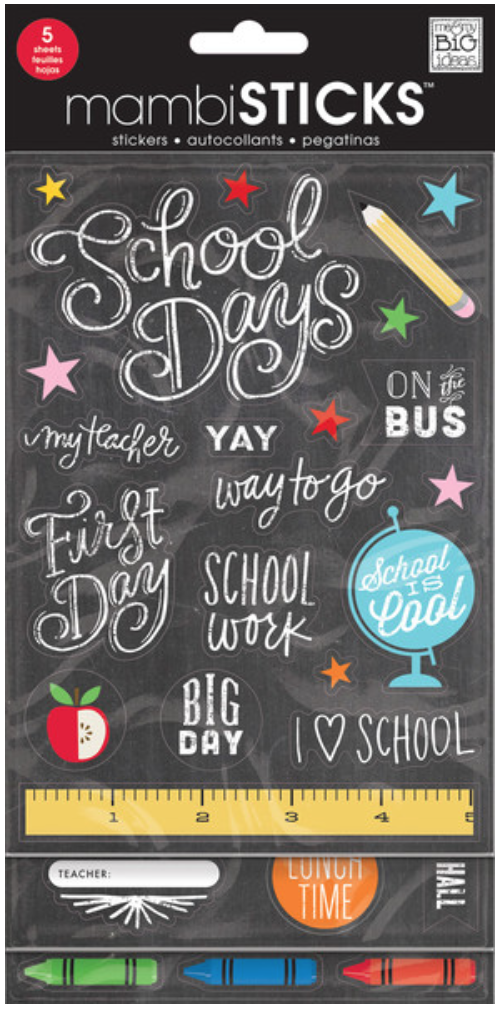 'School is Cool' mambiSTICKS sticker pack | me & my BIG ideas