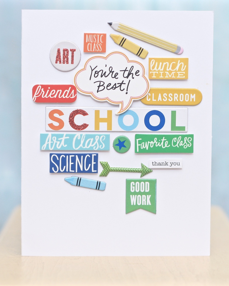 end of year teacher 'Thank You' card