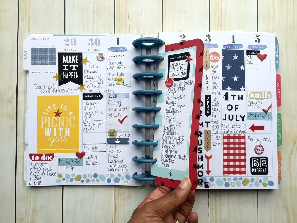 getting ready for the 4th of July in The Happy Planner™ of mambi Design Team member Latrice Murphy | me & my BIG ideas