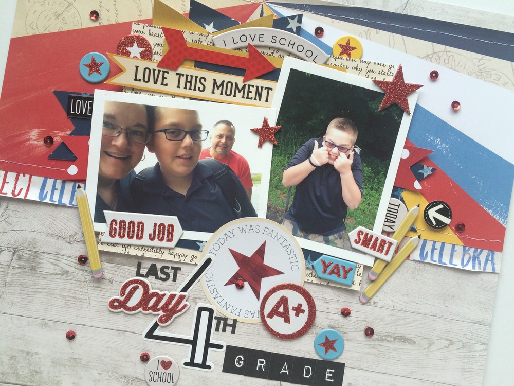 'Last Day of 4th Grade' scrapbook page by mambi Design Team member Mary-Ann Maldonado | me & my BIG ideas