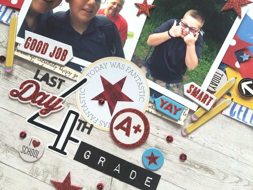 'Last Day of 4th Grade' scrapbook page by mambi Design Team member Mary-Ann Maldonado | me & my BIG ideas