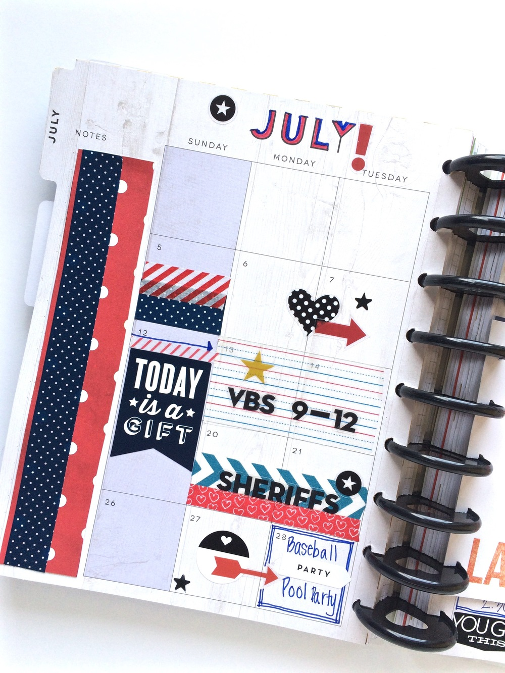 the month of July in The Happy Planner™ of mambi Design Team member Mary-Ann Maldonado | me & my BIG ideas