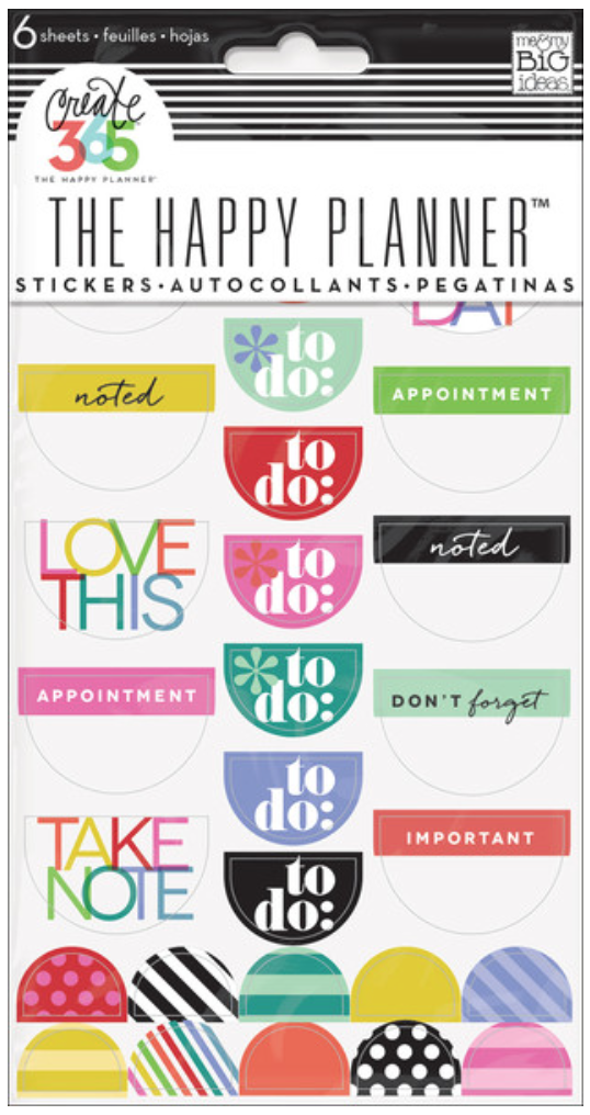 'To Do' Bright stickers for Create 365™ The Happy Planner™ | me & my BIG ideas