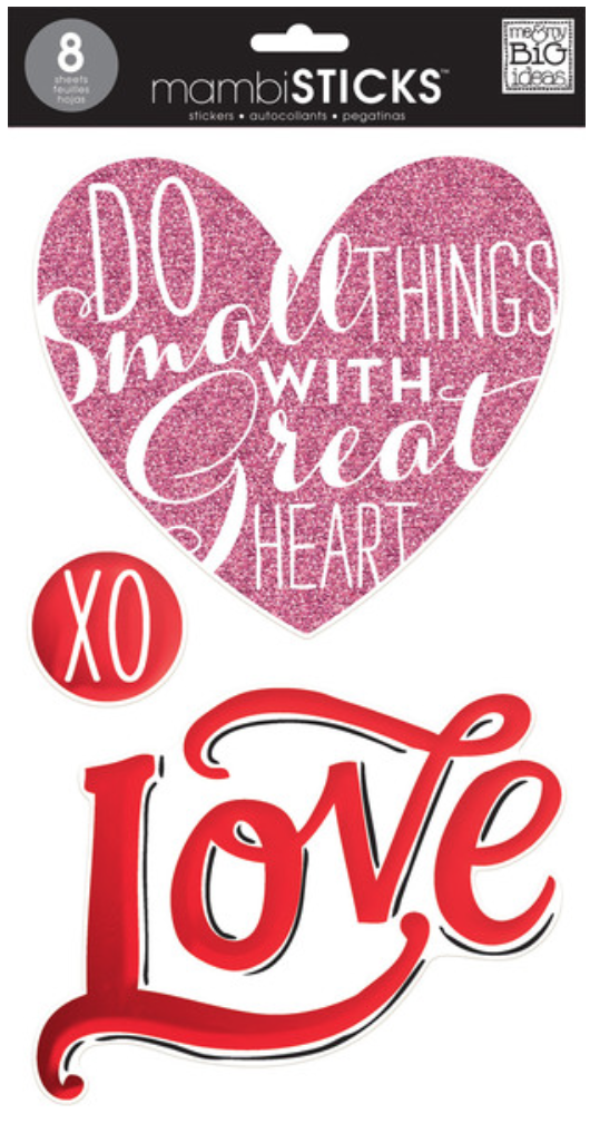 'Love' jumbo mambiSTICKS sticker pack | me & my BIG ideas