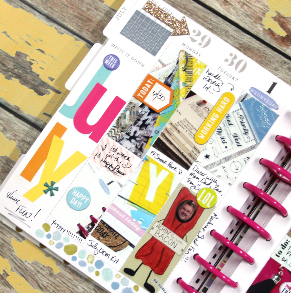 July week in The Happy Planner™ of mambi Design Team member Candi Billman | me & my Big ideas