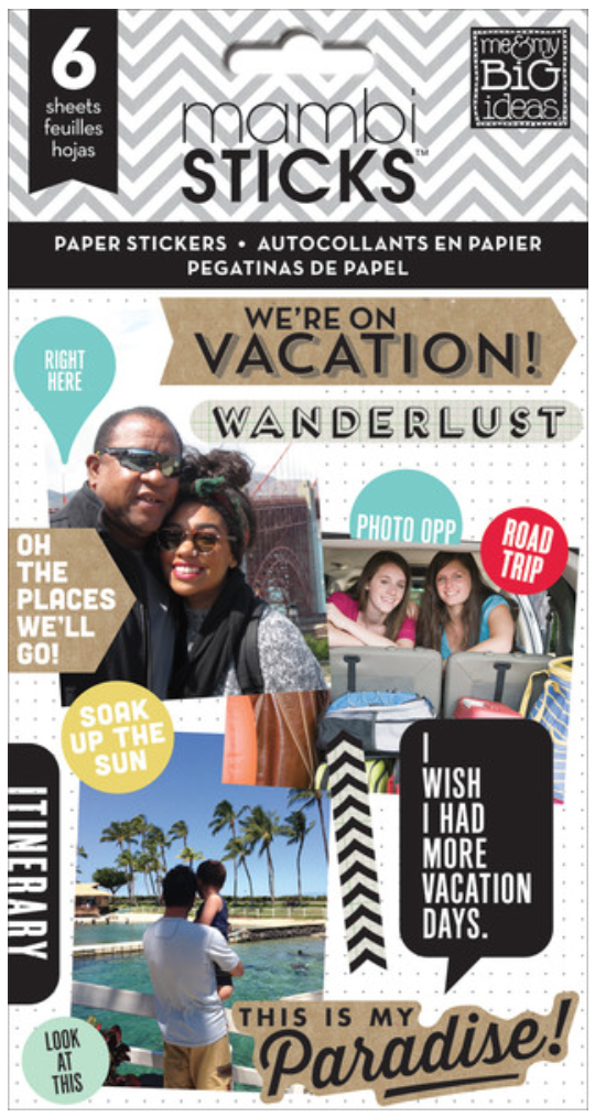 'We're on Vacation' mambiSTICKS travel sticker pad | me & my BIG ideas