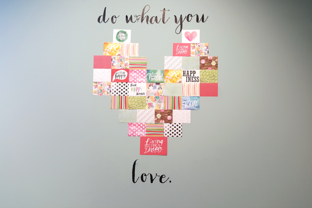 a heart collage using POCKET PAGES™ cards by mambi intern Morgan Adkins | me & my BIG ideas