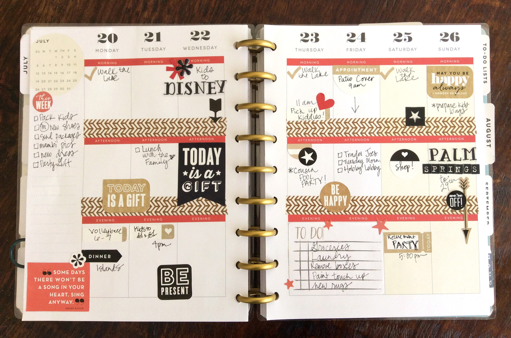 July week in The Happy Planner™ of mambi Design Team member Jen Randall | me & my BIG ideas