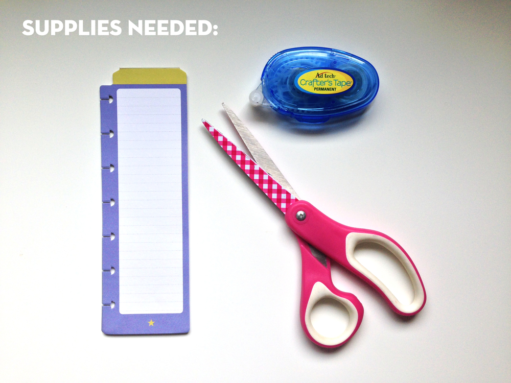 supplies needed for DIY double-sided notepads from The Happy Planner™ line created by mambi Social Media Coordinator Amanda Zampelli | me & my BIG ideas