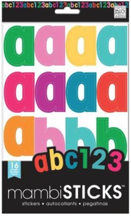 lowercase primary mambiSTICKS alphabet stickers | me & my BIG ideas