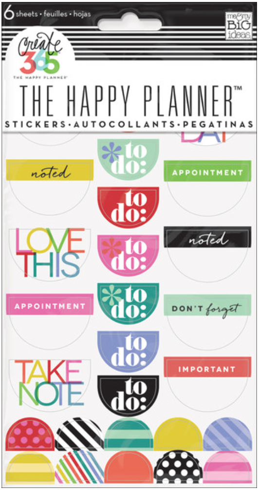 Bright 'To Do' stickers | me & my BIG ideas