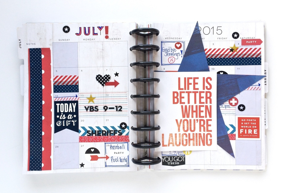 a patriotic & busy July monthly