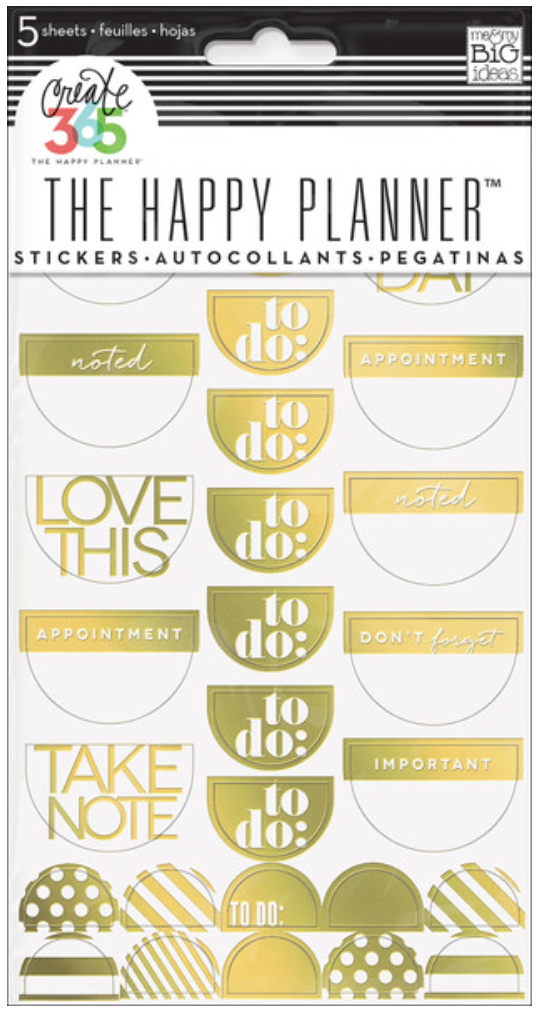 'To Do' gold foil stickers for Create 365™ The Happy Planner™ | me & my BIG ideas