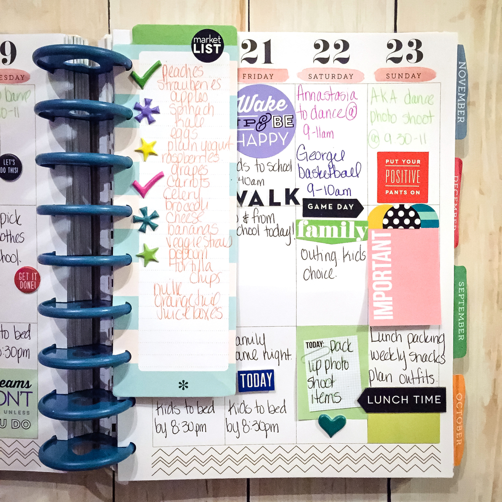 The happy planner planning for the first week back to for Planner decorating blogs