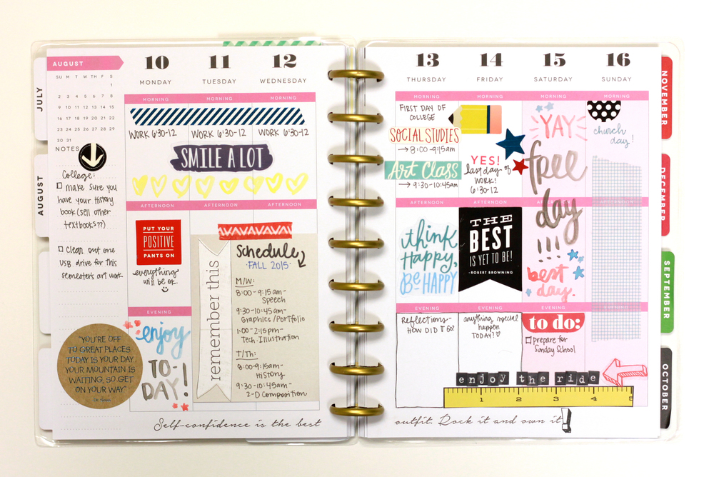 The Happy Planner™ | Fall 2015 Semester — me & my BIG ideas