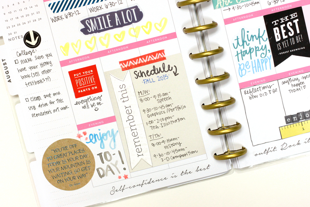 Fall 2015 semester in The Happy Planner™ of mambi Design Team member Heather Adams | me & my BIG ideas