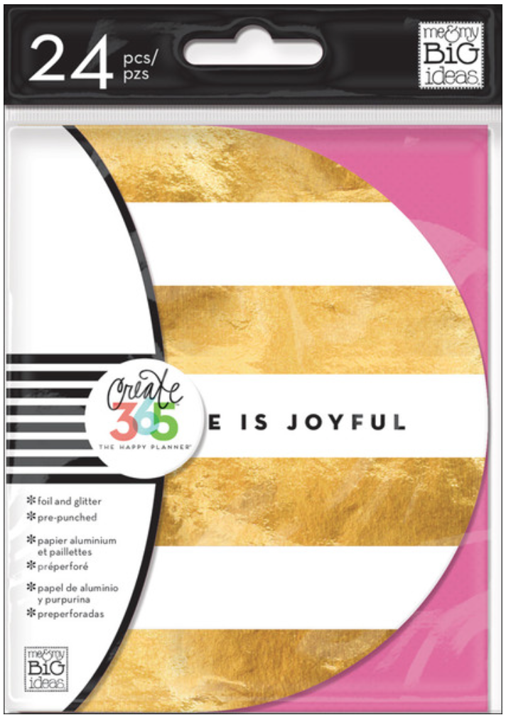 'Inspirational Cards' pre-punched for Create 365™ The Happy Planner™ | me & my BIG ideas