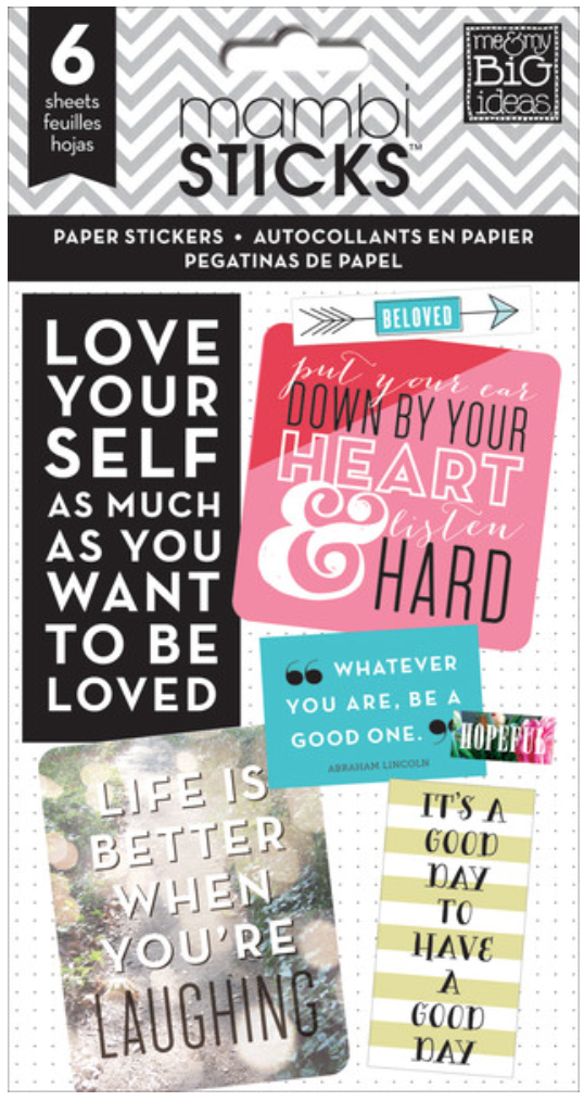 Inspirational Quotes mambiSTICKS stickers | me & my BIG ideas