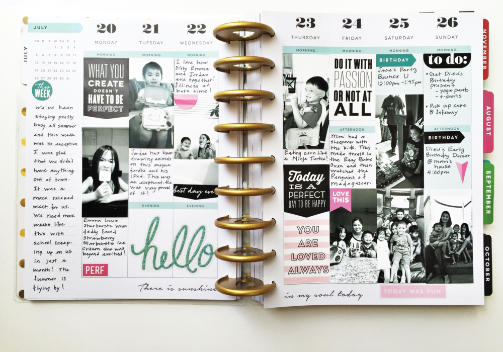 capturing Summer memories in the Happy Planner™ of mambi Design Team member Theresa Doan | me & my BIG ideas