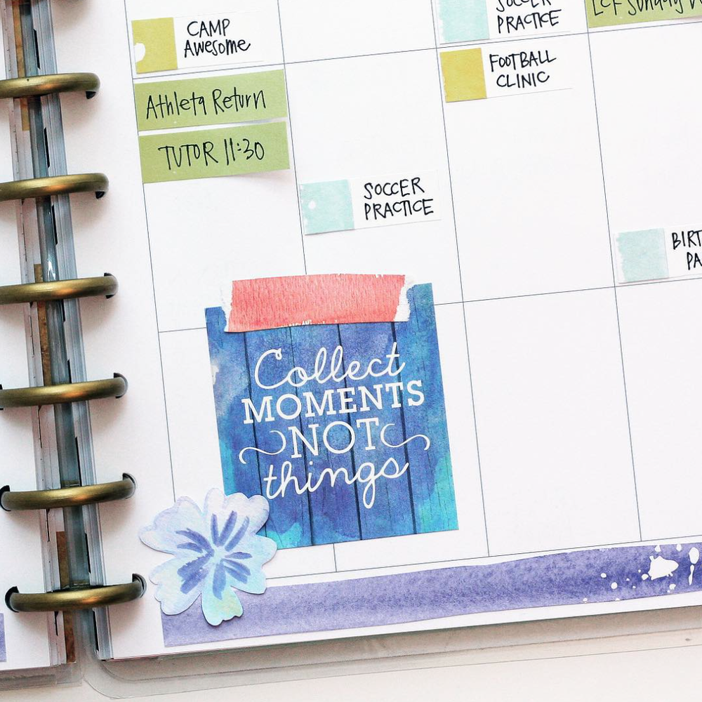 watercolor August week in The Happy Planner™ of mambi Design Team member April Orr | me & my BIG ideas