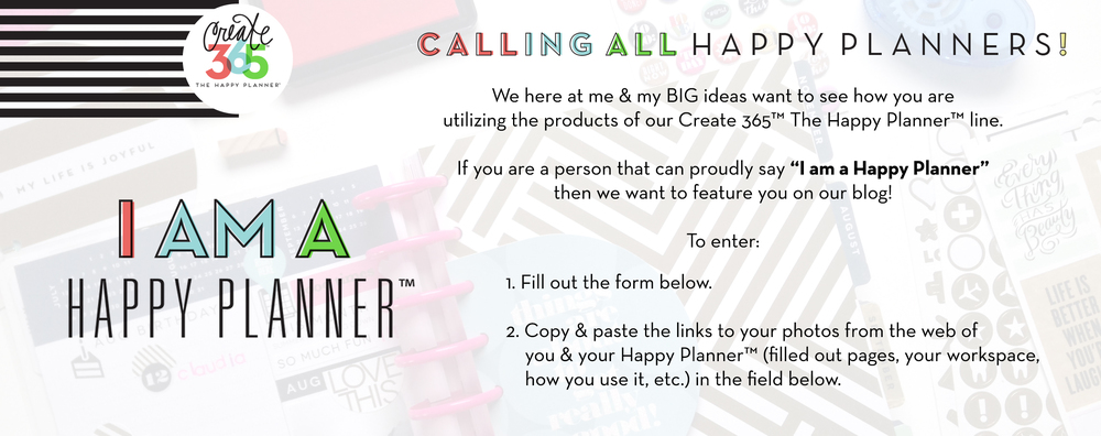 I Am a Happy Planner title image | me & my BIG ideas