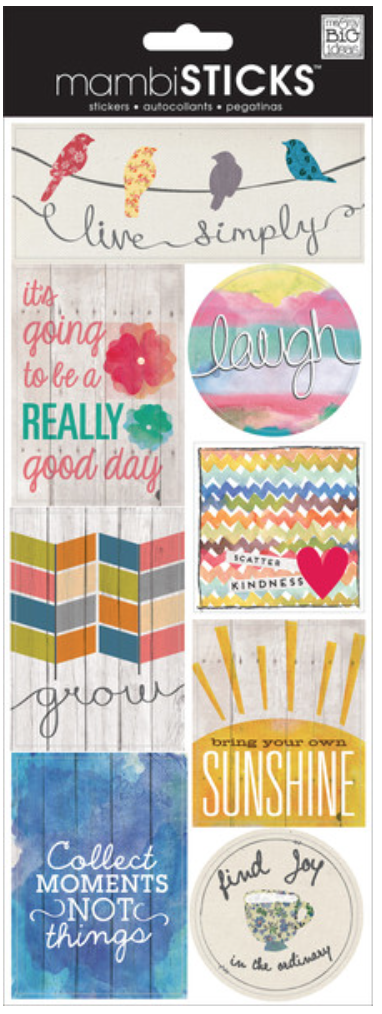 'Live Simply' mambiSTICKS stickers | me & my BIG ideas