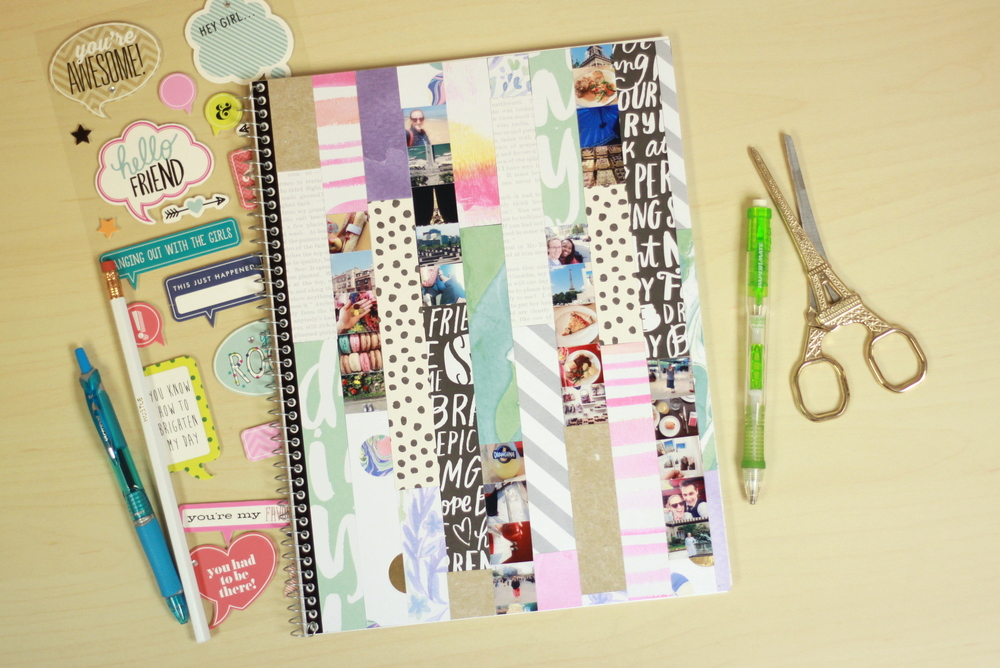 Craft mambisheets notebook cover collage me my big ideas for Back to school notebook decoration ideas