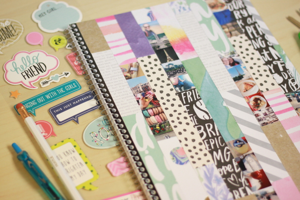 a mambiSHEETS collage notebook cover by mambi Deisgn Team member Heather Adams | me & my BIG ideas