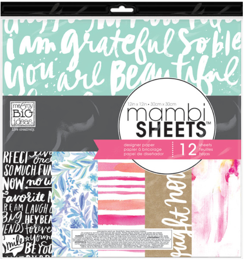 Paint Palette 12x12 mambiSHEETS designer paper pack | me & my BIG ideas