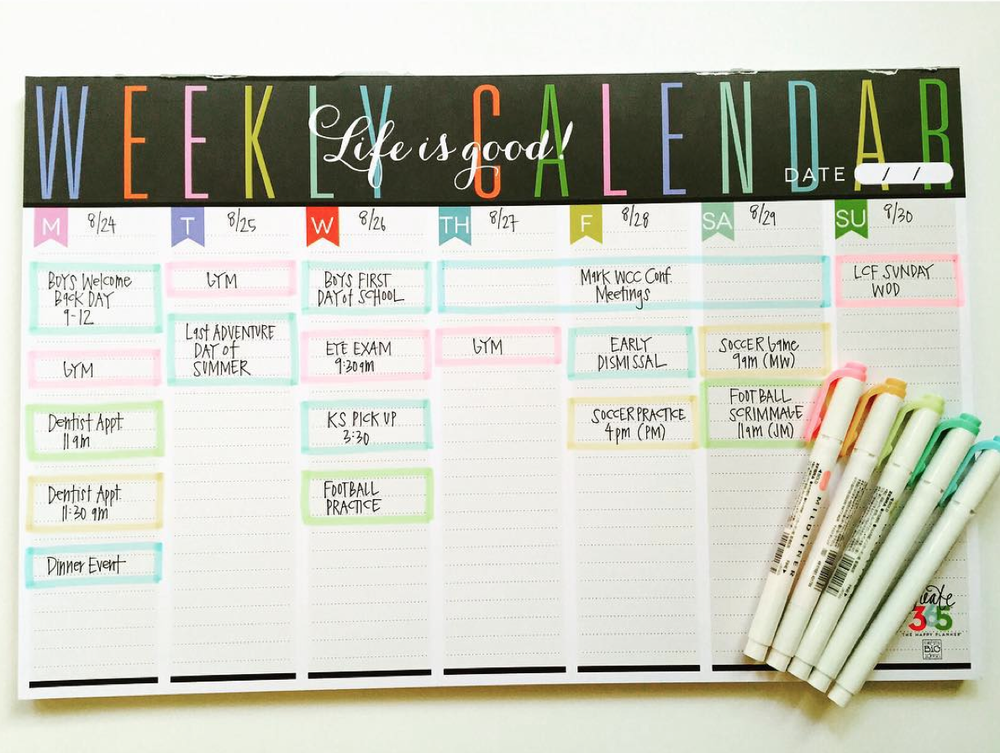 the Weekly Planner Pad of mambi Design Team member April Orr | me & my BIG ideas