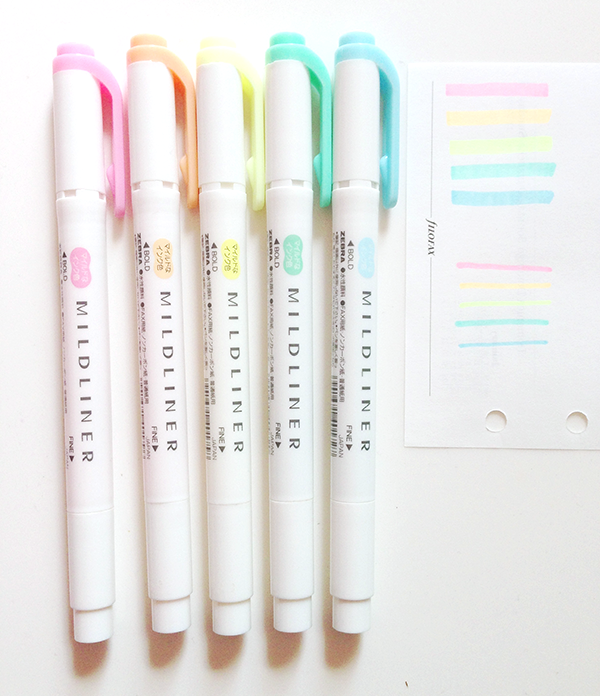 Zebra Highlighter Mildliner 5 piece set