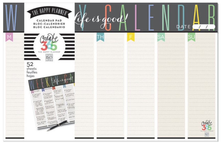 Weekly Planner Pad from Create 365™ The Happy Planner™ line