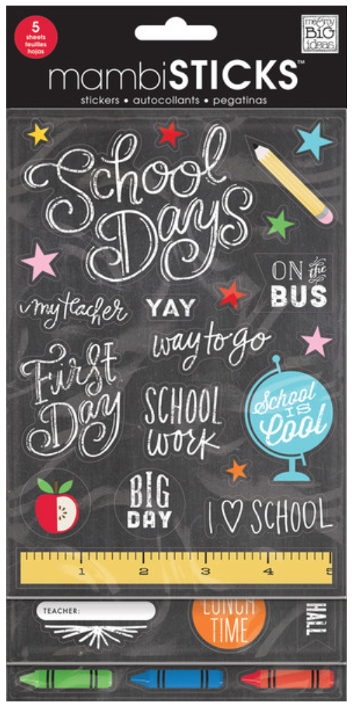'School is Cool' mambiSTICKS back to school stickers | me & my BIG ideas
