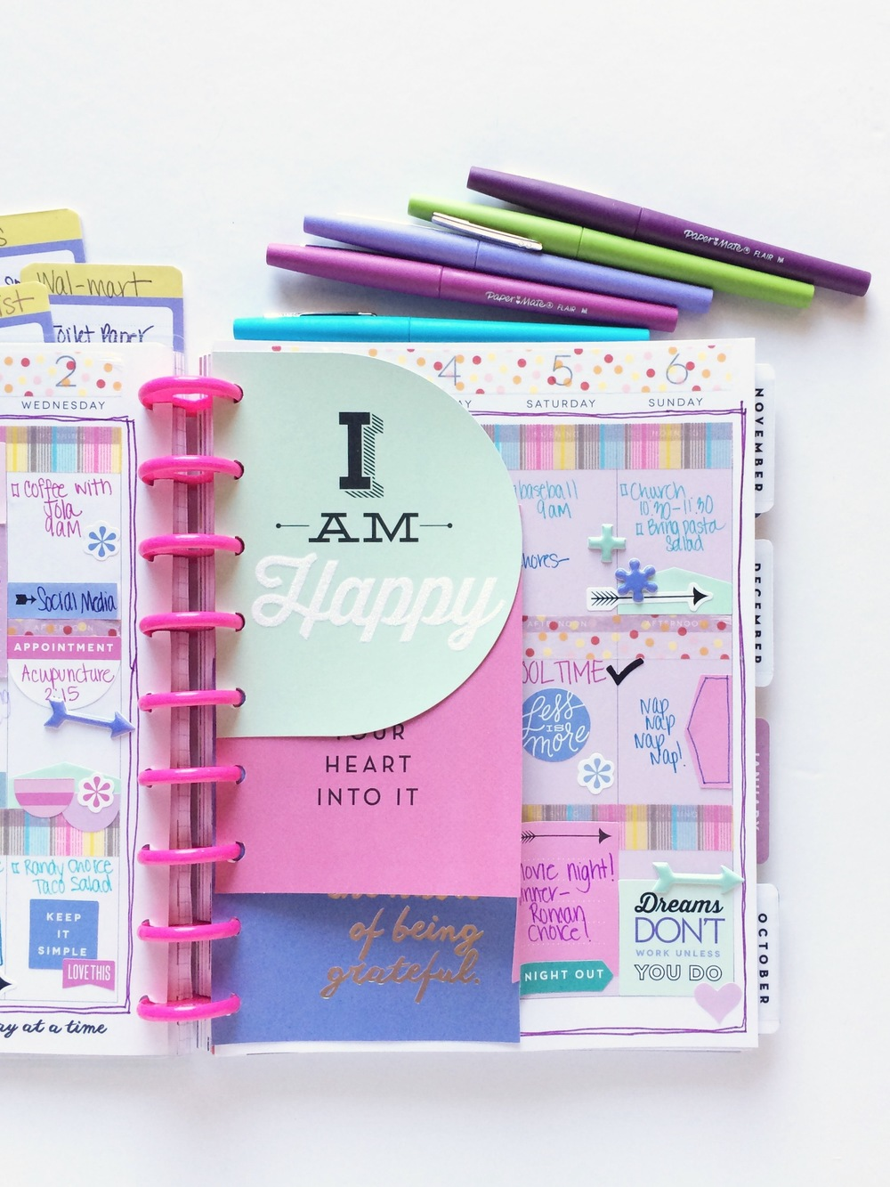The happy planner mom 39 s purple themed 39 back to school for For planner