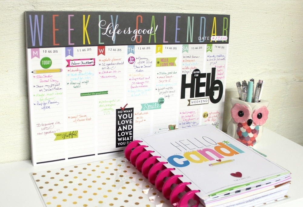 HELLO, Weekly Planner Pad
