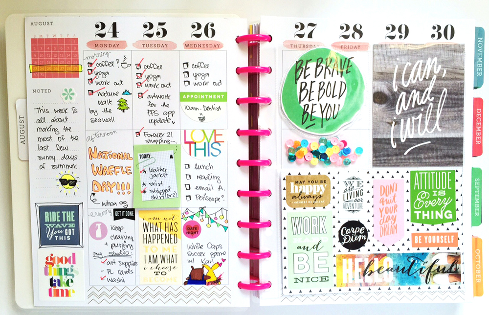 half planner/ half pocket page Happy Planner™ spread by mambi Design Team member Olya Schmidt | me & my BIG ideas